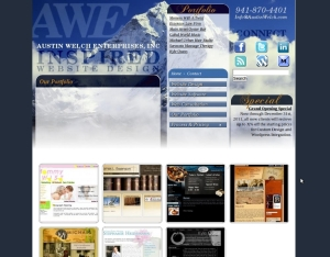 AWE Inspired Website Design