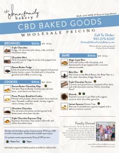 Glenn Family Bakery Wholesale Price Sheet